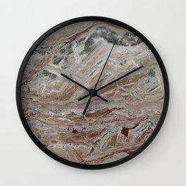 Arabescato-Orobico Fine Marble Wall Clock