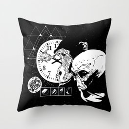 Abstract Space Monkey Throw Pillow