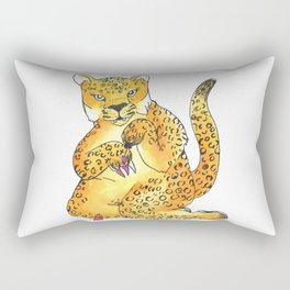 jaguar painting nails transparent Rectangular Pillow