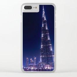 Burj Khalifa Skyscraper In Dubai Clear iPhone Case