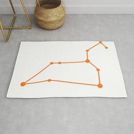 Leo (Orange & White) Rug