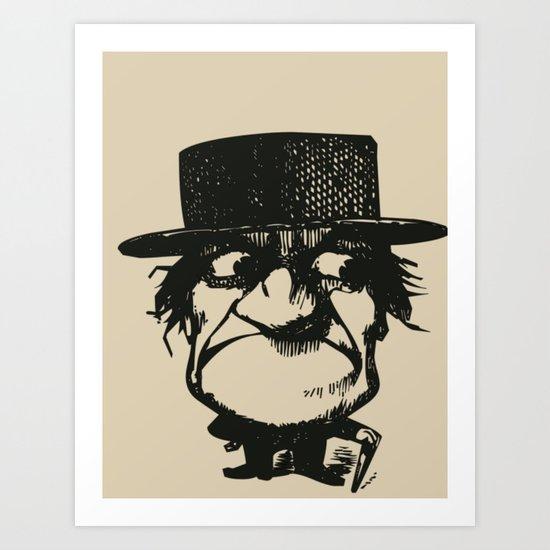 MAD MAN Art Print