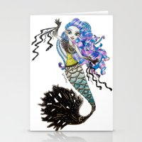 monster high Stationery Cards featuring Sirena Von Boo - Monster High by Amana HB