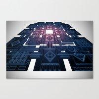 tron Canvas Prints featuring TRON by Erik Anarchie