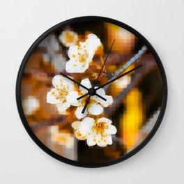 Nature Pixels No2 Wall Clock