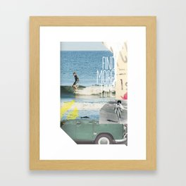 Find More Time Framed Art Print