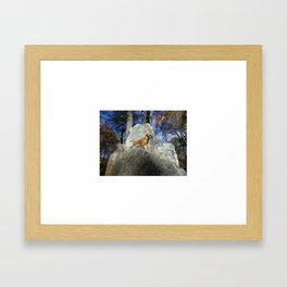 King of the Mountain Framed Art Print