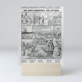 lenin, How the Tsars scorned the People. Mini Art Print