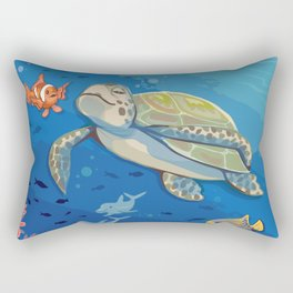 Under the Sea and Above the Coral Rectangular Pillow