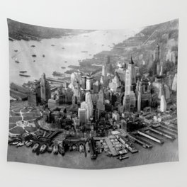 Historic Manhattan 1931 Wall Tapestry