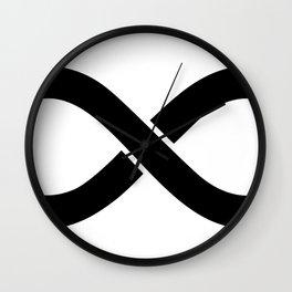 Black Infinity Wall Clock