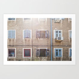 Typical house in Pula Art Print