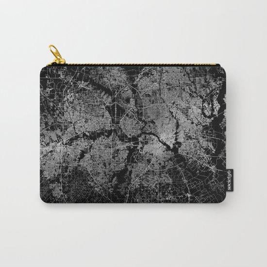Dallas map Texas Carry-All Pouch