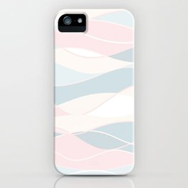 Summer Surf // Beach Waves Light Pastel Peach Blush Aqua Ocean Tides Vintage Surfing Vibes iPhone Case