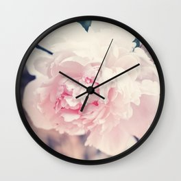 Beautiful Peony Flower Art Wall Clock