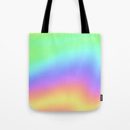 Holographic Foil Colorful Gradient Pattern Tote Bag