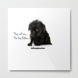 Affenpinscher Dog Father Metal Print