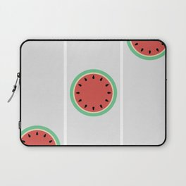 Watermelon Clock Triptych Laptop Sleeve