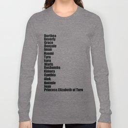 Black Fashion Long Sleeve T-shirt