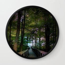 Bridge to Paradise Wall Clock