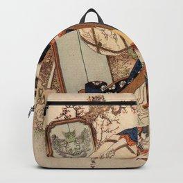 The Strong Oi Pouring Sake by Katsushika Hokusai Backpack