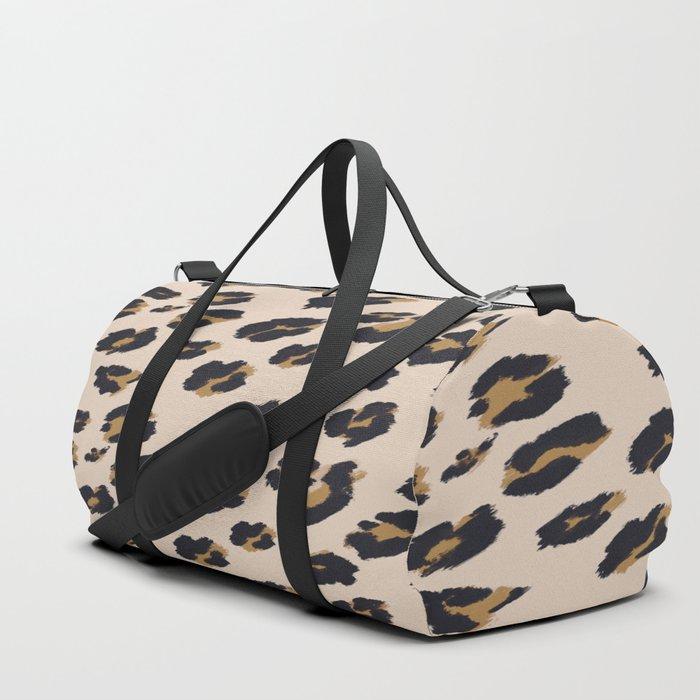 B Leopard Design Duffle Bag