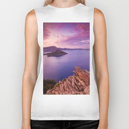 Crater Lake Sunset Biker Tank