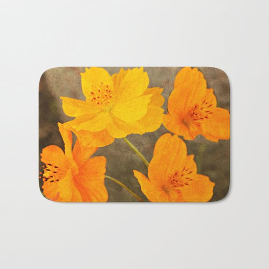 Bright Lights Cosmos Flowers Bath Mat