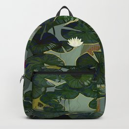 Mermaid in a pond Backpack