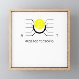 Fader Acid To Techno Framed Mini Art Print