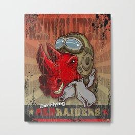 Flying Red Raiders Metal Print