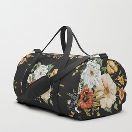 Wildflower Bouquet on Charcoal Duffle Bag