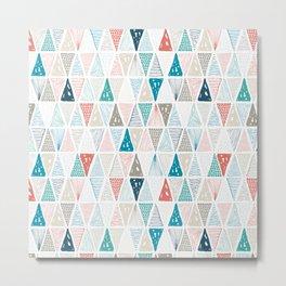 Wondrous Earth Pattern Metal Print