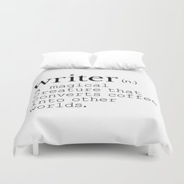 Writer Definition - Converting Coffee Duvet Cover