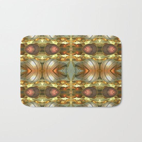 Golden Globes / /  #fractal #fractals #3d Bath Mat