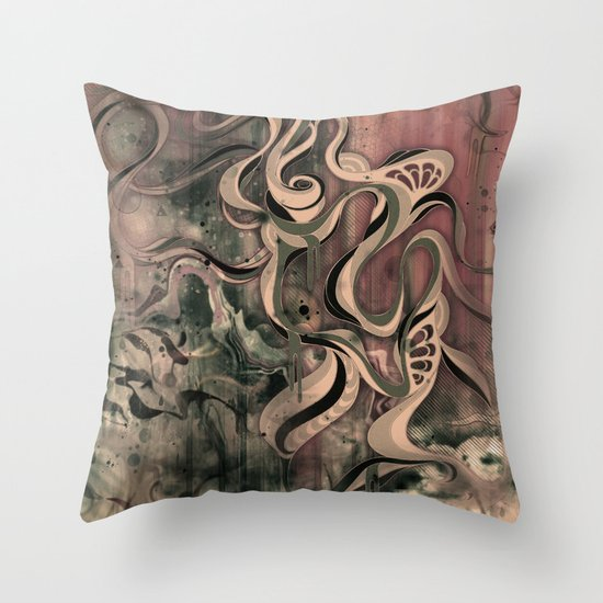 Tempest III (sandstorm) Throw Pillow