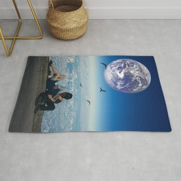 us against the world Rug