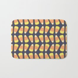 Candy Corn Tango in Navy Bath Mat