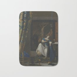 "Johannes Vermeer ""The Allegory of the Faith"" Bath Mat"