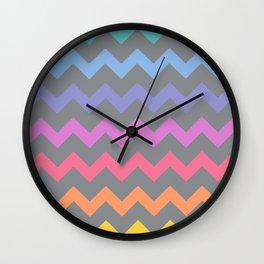 Rainbow Chevron Wall Clock