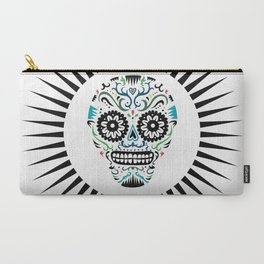 Sugar Skull SF multi -  on white Carry-All Pouch