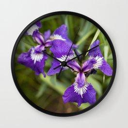 Wild Iris Photography Print Wall Clock