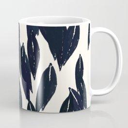 Leaf Print I (ebony/cream) Coffee Mug