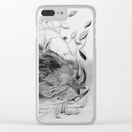 devils and bird Clear iPhone Case