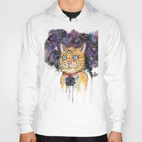 space cat Hoodies featuring Space Cat by scoobtoobins