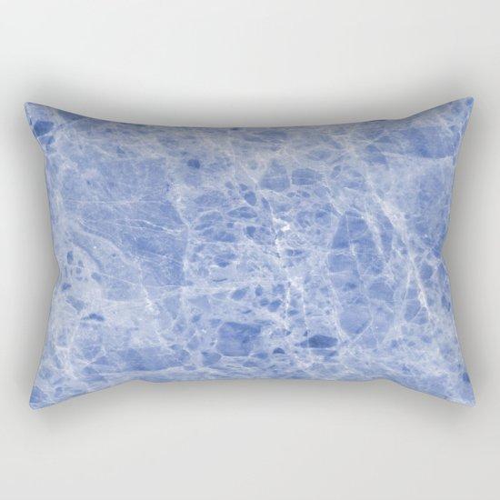 Juliette blue marble Rectangular Pillow