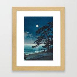 Spring Moon At Ninomiya Beach By Kawase Hasui Framed Art Print