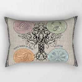 Norse Symbols Rectangular Pillow