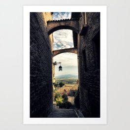 Traditional alley in Assisi Art Print
