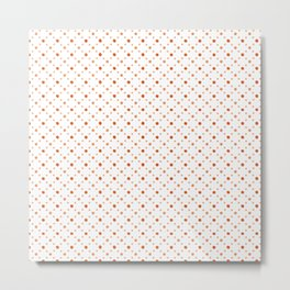 Criss Cross Dots Metal Print